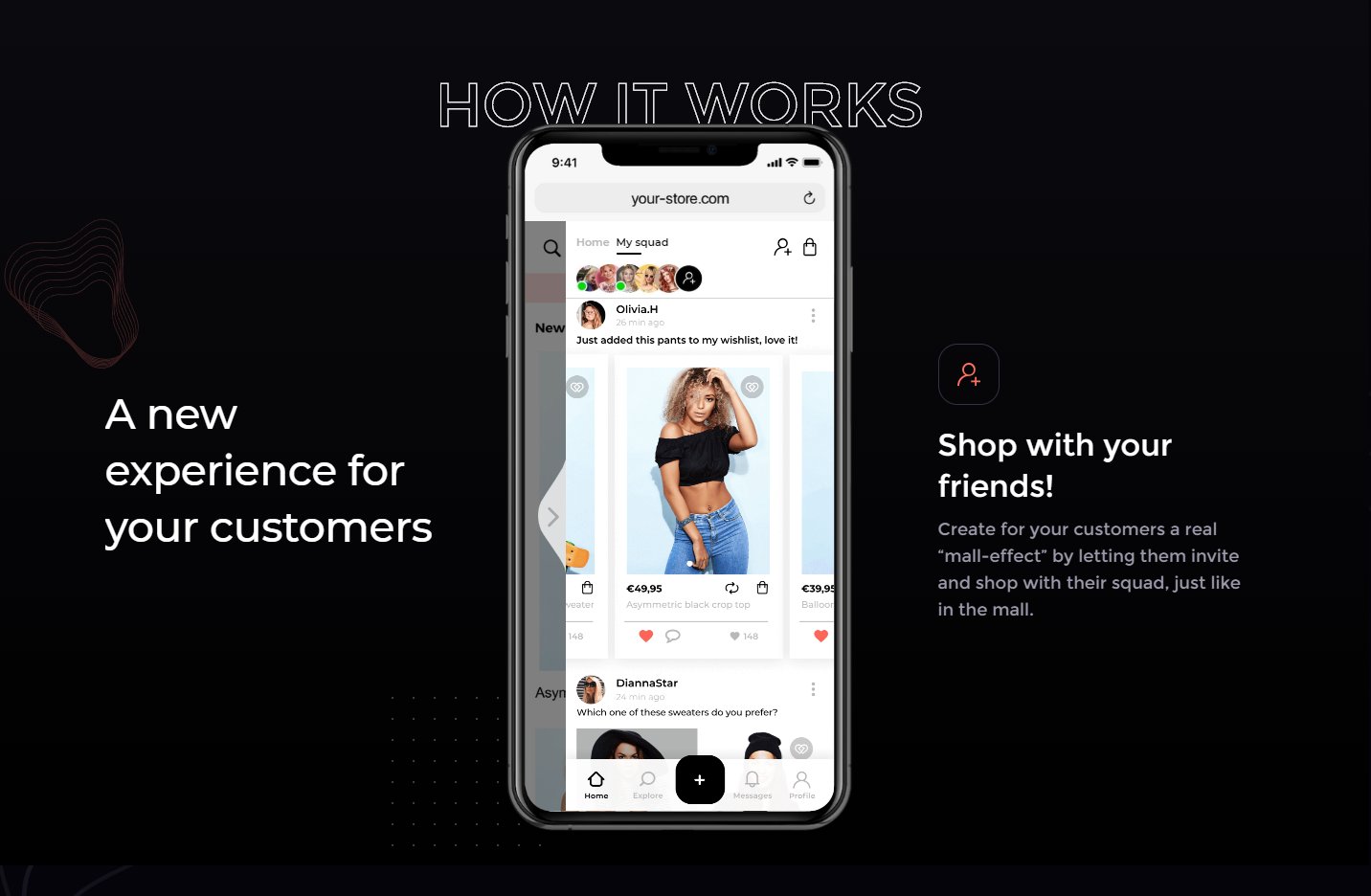 «Lass uns zusammen shoppen gehen – also online»
